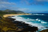 stock photo of off-shore  - A view of the south shore off Oahu Hawaii - JPG