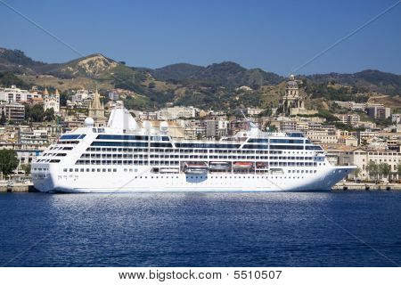 Cruise Ship Of The Sicilian Shore
