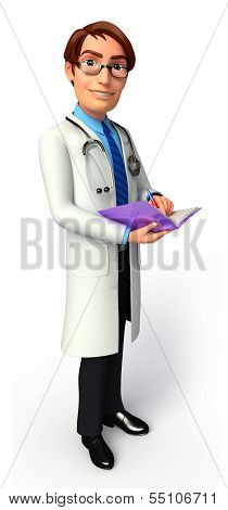 Young Doctor With diary