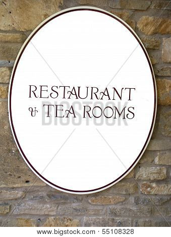 Restaurant & Tea Rooms sign