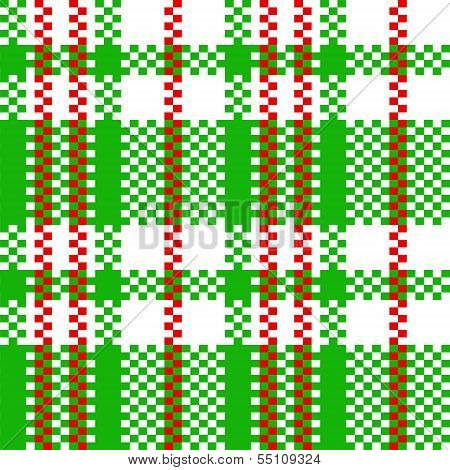 Chinese plastic plaid checker bag in black and white seamless pattern, vector