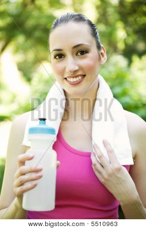 Caucasian Woman Exercise