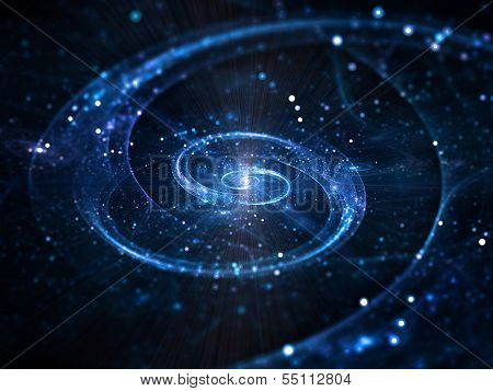 Spiral Galaxy In Deep Space