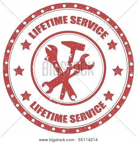 Lifetime Service-stamp