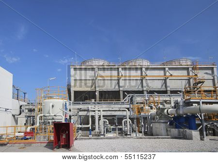 Cooling Tower In Industrial Plant