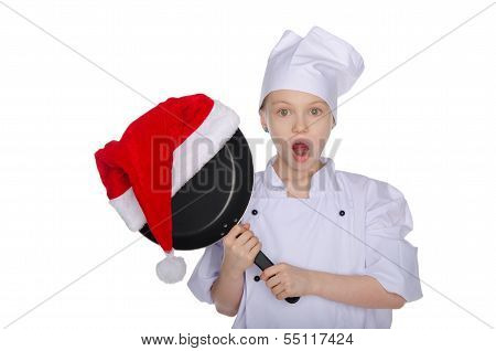 Girl Chef With Christmas Prize