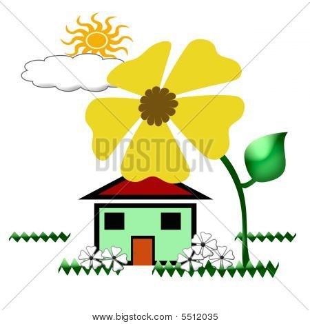 Home Ecology Illustration