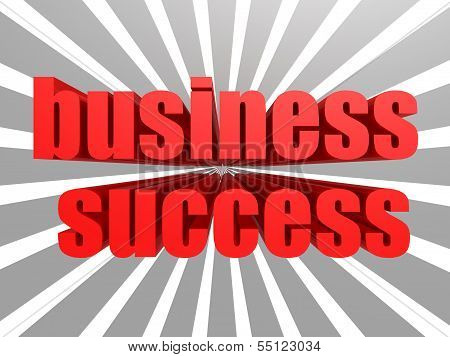 Business success red