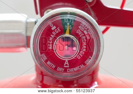 Chemical Gage Of Fire Extinguisher