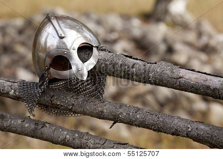 Steel Viking Knight helmet