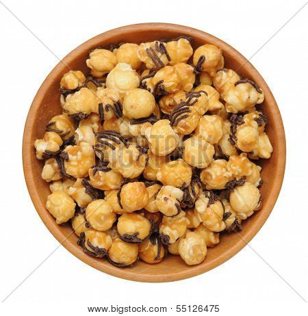 Carmel And Chocolate Popcorn
