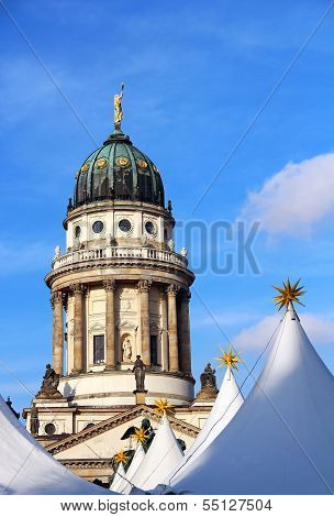 French Cathedral And Christmas Market In Berlin