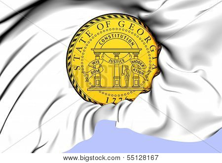 State Seal Of Georgia, Usa.