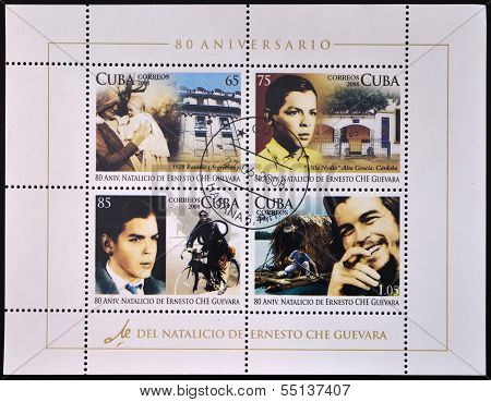 Stamps printed in Cuba dedicated to 80th anniversary of the birth of Ernesto Che Guevara
