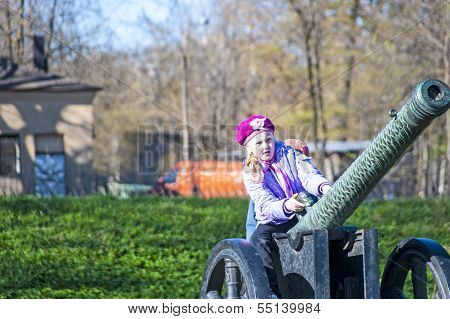 Girl and Cannon