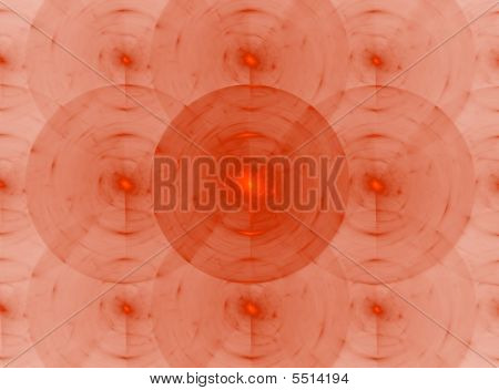 Abstract Radiating Orange Circles