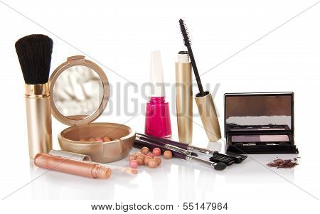 Big set of makeup