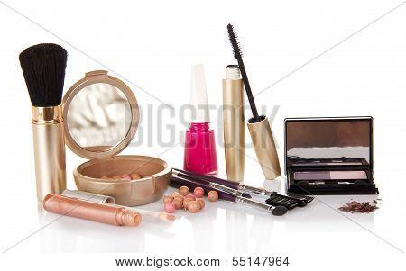 Big set of makeup