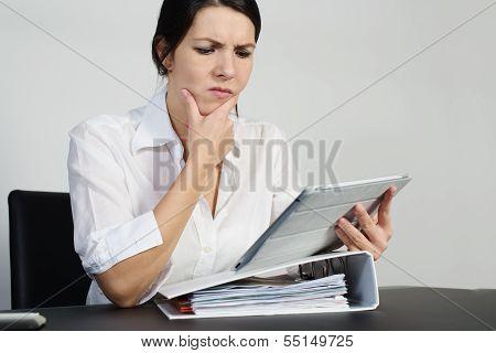 Puzzled Woman Thinking Hard