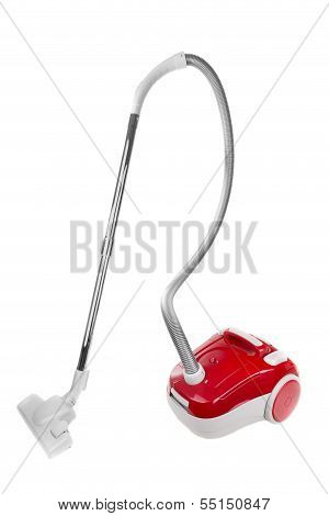 Vacuum Cleaner For Domestic Cleaning. On A White Background.