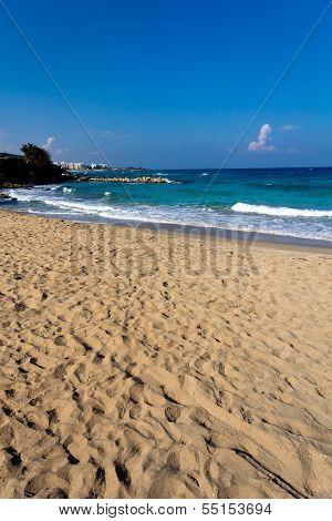 Protaras Beach, Cyprus , on a sunny day