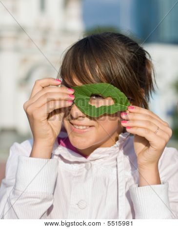 The Girl With A Spring Green Leaflet