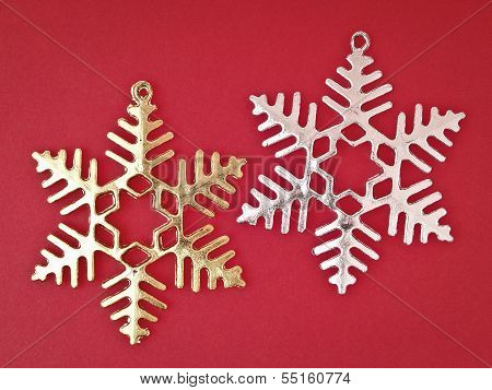 Pair Ornament Snowflake