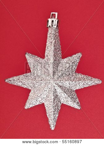Ornament Star On Red