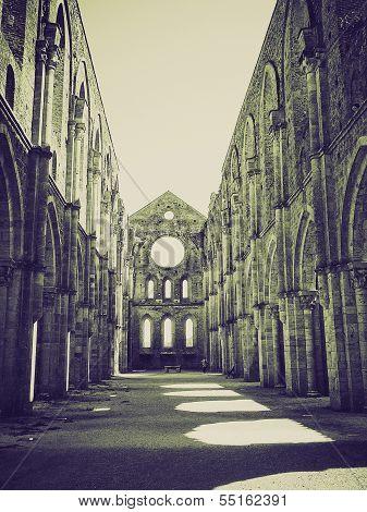 Vintage Sepia San Galgano Abbey