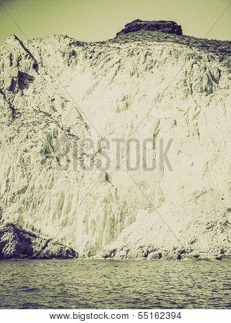 Vintage Sepia Santorini In Greece