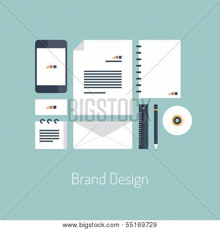 Brand Design Flat Illustration Concept