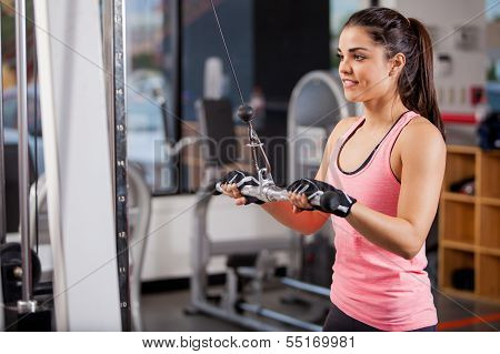 Toning my muscles at the gym