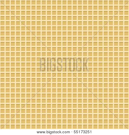 Waffle vector seamless background