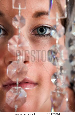 Young Attractive Woman Eyes Closeup