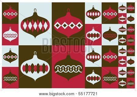 Christmas sphere pattern design