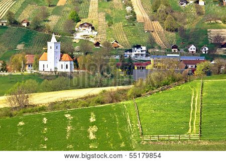Idyllic Hill Village Of Visoko