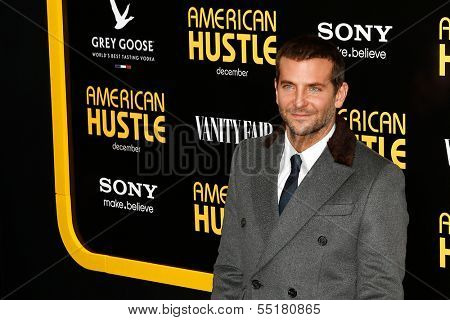 "NEW YORK-DEC 8: Actor Bradley Cooper attends the ""American Hustle"" premiere at the Ziegfeld Theatre on December 8, 2013 in New York City."