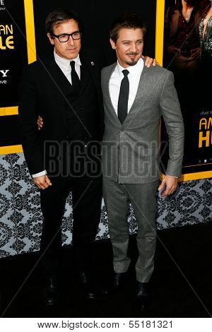 NEW YORK-DEC 8: Director David O. Russell (L) and Jeremy Renner attend the
