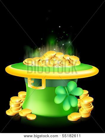 Leprechaun Hat Full Of Gold