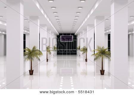 Interior del centro de negocios