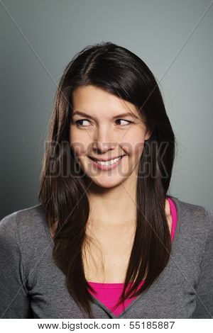 Attractive Woman With A Lovely Friendly Smile