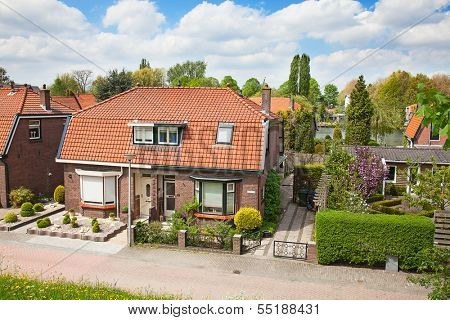 Dutch coutryside houses near Haarlem, Netherlands