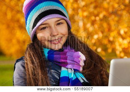 Autumn Schoolgirl Portrait