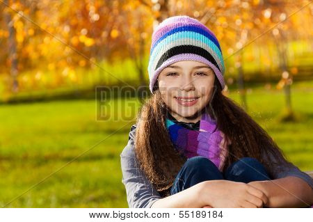 Girl Portrait In The Park