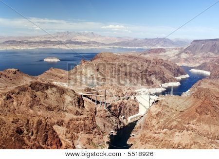 Hoover Dam, Colorado River And Lake Powell