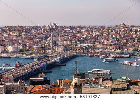 Galata Bridge In Istanbul