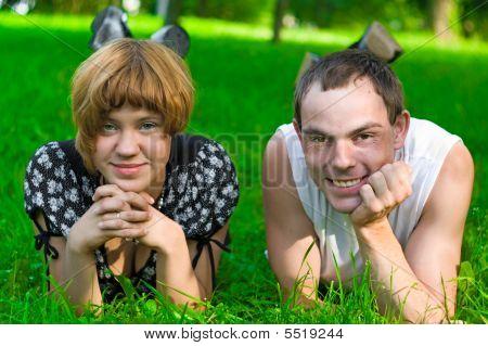 Teens On Grass