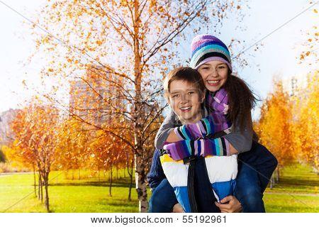 Happy School Age Couple