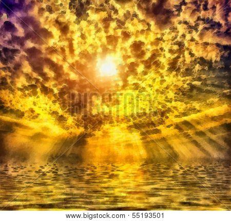 wunderbaren Sonnenaufgang