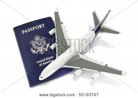 Jet aircraft with passport
